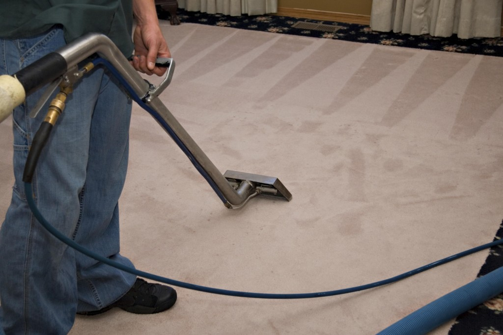 Man working in carpet cleaning santee company